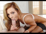 Sexy Petite Blonde Babe Rides Bosses Thick Cock Bella Rose