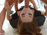 Ariadna being analized with ass gaping on Ass Traffic