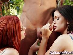 Redheaded slut cum soaked