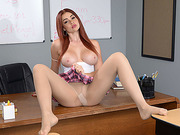 Gorgeous busty babe Skyla Novea fucks big stiff cock