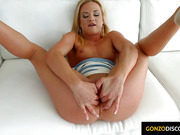 Kristal Kaytlin getting a messy dripping cum creampie injected into her