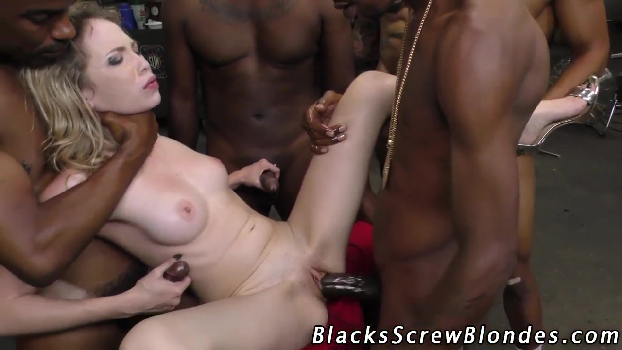 Lewd Interracial Guys Enjoy Gangbang Bukkake