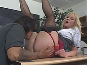 Busty blonde mom fucks her lover like never before