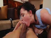 Bruno feed Rylan Ann and gag on his big cock