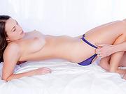 Seductive babe Lily Love sensual fuck