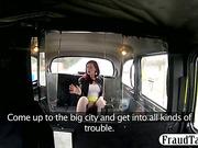 Big boobs amateur redhead slut sucks and fucks her horny taxi driver