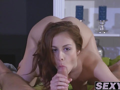 Sexy Euro babe Honey B yearns for a meaty bazooka to suck