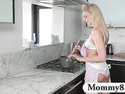Stepmom MILF teaches boy new tricks while his girlfriend is away
