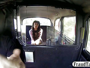 Amateur talked into a revenge fuck by her smart taxi driver