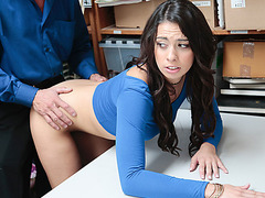 Hot Latina Taylor May punished for shoplifting