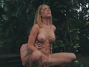 Raylin Ann gets sexyd by horny creep outdoors
