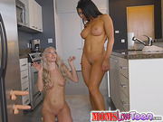 Molly Mae and stepmom Nikki Capone play with dildos