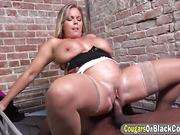 Milf Amber Lynn Bach Riding Black Cock In Prison