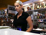 Barmaid Lenka screwed up for some cash