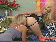 Sexy Femdom Blonde Takes Out Her Strapon