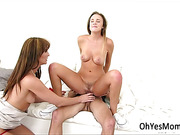 MILF Bianca gets caught in lesbian scene with teenage Alexis