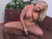 Alena Watched By Boyfriend While Riding Black Cock