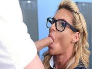 Phoenix Marie blowjob Tony Rubinos thick cock