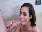 Ariell Ferrera sucking Kyle Mansons big cock