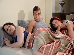 Mom in law Monique Alexander sucking Xander Corvus cock