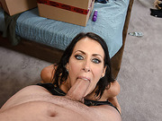 Brunette sexy hot Raegan gets banged by hunk stepson stepson