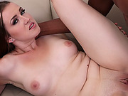 WANKZ- European Babe Gets Stretched Out By bbc