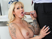 Busty milf Ryan Conner hot anal office fuck