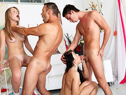 Dirty foursome goes hardcore with anal