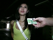 Eurobabe mona pussy railed and jizzed on in a car park for cash