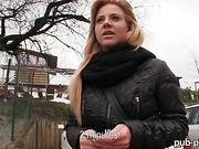 Real amateur blonde Czech slut Cherie nailed in the bathroom