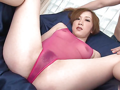Sexy slut moans while getting fucked by a toy