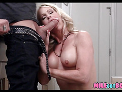 Blonde Babe Mom with big tits