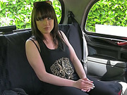 Hot and gorgeous Lucy gets seduced and fucked inside the taxi cab