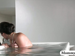 Hot MILF catches boy spying on her while she was masturbating in a bath