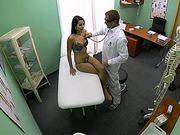 College chick Ferrera sexual examination