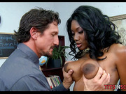 Interracial in School Office