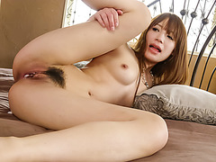 Young Ayaka Fujikita screams while getting fucked hard