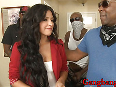 Steamy hot babe Danica Dillon gangbanged