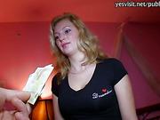 Euro slut Maya Angel banged for money