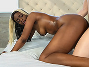 Black babe Lucy Raquel gives head and gets banged