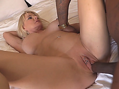 Roxanne Rae gets fucked in an interracial threesome with her stepmother