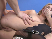 Blonde stepsister Ruth Fowler treated like a whore and fucked hard in the asshole!