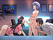 Shemale hentai nurses threesome fucked