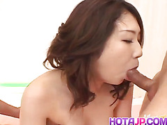 Hatsumi Kudo sensual video while getting fucked by two lads