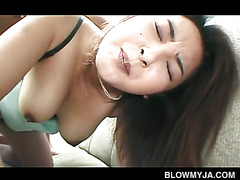 Slutty pregnant jap babe pussy drilled from behind at work