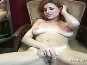 Naked amateur temptress masturbating pussy for money