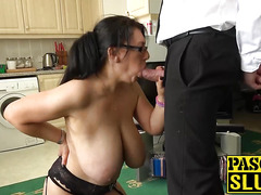 Hot brunette mature lady Sabrina Jade banged hard and raw