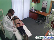 Fake doctor examines and fucks patient