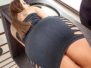 Perfect butt Nomi Melone both holes fuck