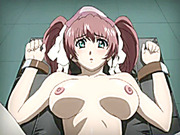 Chained hentai nurse gets shoved toy on the gynecology chair